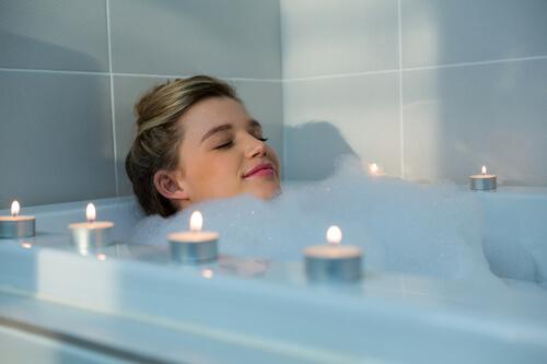 アロマキャンドルをお風呂で楽しむ